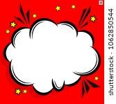 retro comic design cloud. flash ... | Shutterstock .eps vector #1062850544
