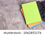 notebook with spiral and blank... | Shutterstock . vector #1062852176