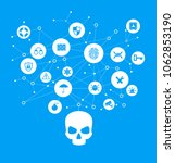 human skull in digital... | Shutterstock .eps vector #1062853190