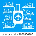 infographics elements  travel... | Shutterstock .eps vector #1062854183