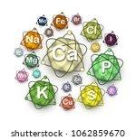 various microelements ... | Shutterstock .eps vector #1062859670