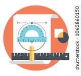 art and architecture drafting...   Shutterstock .eps vector #1062860150