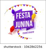 festa junina background holiday ... | Shutterstock .eps vector #1062862256