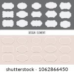 vector set vintage labels and... | Shutterstock .eps vector #1062866450