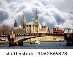 westminster palace and lambeth... | Shutterstock . vector #1062866828