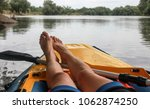 girl is relaxation on boat  the ... | Shutterstock . vector #1062874250