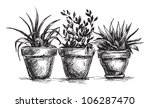flower pots   Shutterstock .eps vector #106287470