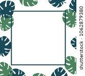 summer tropical leaves...   Shutterstock .eps vector #1062879380