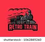 locomotive retro black... | Shutterstock .eps vector #1062885260