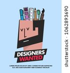 we are hiring designers... | Shutterstock .eps vector #1062893690