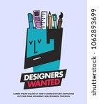 we are hiring designers... | Shutterstock .eps vector #1062893699