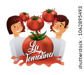 la tomatina festival   Shutterstock .eps vector #1062895493