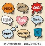 a set of comic speech bubbles... | Shutterstock .eps vector #1062895763