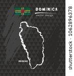 dominica map  vector pen... | Shutterstock .eps vector #1062896378