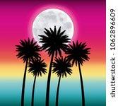 full moon party summer | Shutterstock .eps vector #1062896609
