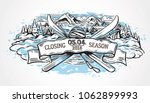 graphic illustration with a set ... | Shutterstock .eps vector #1062899993