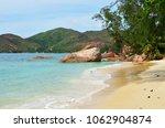 beautiful tropical beach on... | Shutterstock . vector #1062904874