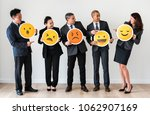 business people standing and... | Shutterstock . vector #1062907169