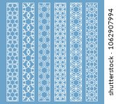 vector set of line borders with ... | Shutterstock .eps vector #1062907994