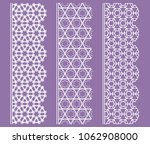 vector set of line borders with ... | Shutterstock .eps vector #1062908000