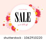 spring sale background with... | Shutterstock .eps vector #1062910220
