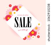 spring sale background with... | Shutterstock .eps vector #1062910238