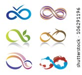 set of infinity icons | Shutterstock .eps vector #106291196