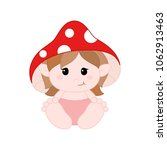 cute little gnome in diapers... | Shutterstock .eps vector #1062913463