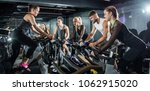 group of sporty people on... | Shutterstock . vector #1062915020