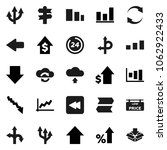 flat vector icon set   graph... | Shutterstock .eps vector #1062922433