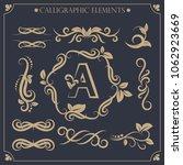 calligraphic design elements... | Shutterstock .eps vector #1062923669