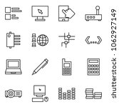 flat vector icon set   comments ... | Shutterstock .eps vector #1062927149