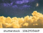 dreamy cloudscape at night with ... | Shutterstock . vector #1062935669