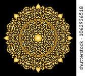 gold mandala indian floral... | Shutterstock .eps vector #1062936518