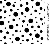 black polka dot pattern | Shutterstock .eps vector #1062943940