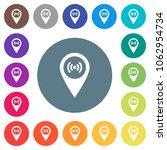free wifi hotspot flat white... | Shutterstock .eps vector #1062954734