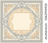 ornate art deco vintage design...   Shutterstock .eps vector #1062954920