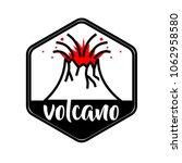 volcano illustration in a...   Shutterstock .eps vector #1062958580
