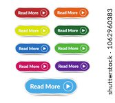 set of read more button with... | Shutterstock .eps vector #1062960383