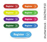 set of register button with... | Shutterstock .eps vector #1062961910
