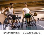 disabled sport men in action... | Shutterstock . vector #1062962078