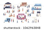 summer outdoor street food... | Shutterstock .eps vector #1062963848