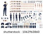 policewoman constructor or diy... | Shutterstock .eps vector #1062963860