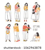 Collection Of Pairs Of Hugging...