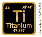 periodic table element titanium ... | Shutterstock .eps vector #1062984239