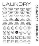 set of washing symbols | Shutterstock . vector #106298480