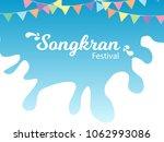 songkran festival thailand...   Shutterstock .eps vector #1062993086
