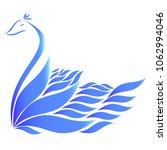 shape of blue swan.   Shutterstock .eps vector #1062994046