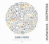 elderly people concept in... | Shutterstock .eps vector #1062996566