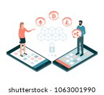 users making payments with... | Shutterstock .eps vector #1063001990